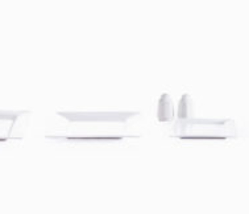 Square porcelain set