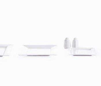 Square porcelain set