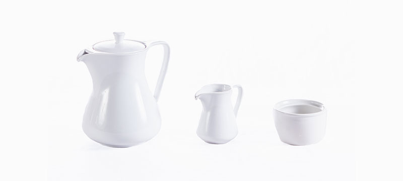 Royal Porcelain - Teapot | Milk jug | Sugar bowl