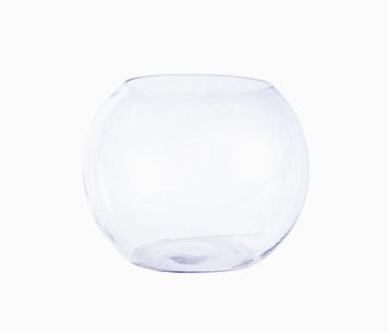Rounded glass vase